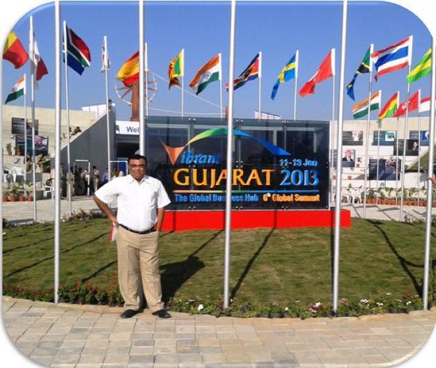 Dr Bharat Agravat Participated in Vibrant Gujarat 2013 Summit image